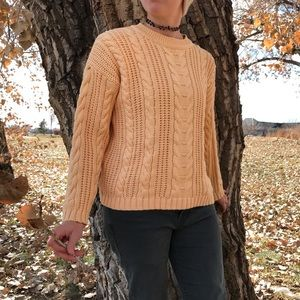 Eddie Bauer | Vintage Yellow Chunky Knit Sweater